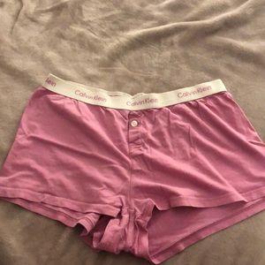 Calvin Klein women's sleep shorts